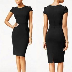NWT Betsey Johnson Black Puff Sleeve Scuba Dress 4